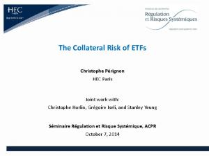 The Collateral Risk of ETFs