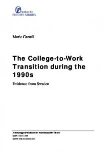 The College-to-Work Transition during the 1990s