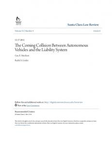 The Coming Collision Between Autonomous Vehicles and the Liability System