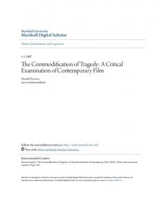 The Commodification of Tragedy: A Critical Examination of Contemporary Film