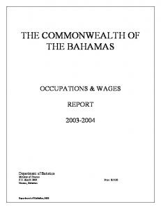 THE COMMONWEALTH OF THE BAHAMAS