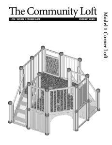 The Community Loft. Model 1 Corner Loft