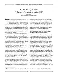 The Community Reinvestment Act (CRA) of 1977