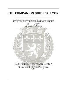 THE COMPANION GUIDE TO LYON