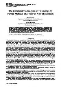 The Comparative Analysis of Two Songs by Farhad Mehrad: The View of New Historicism