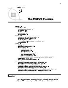 The COMPARE Procedure