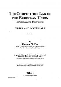 THE COMPETITION LAW OF THE EUROPEAN UNION