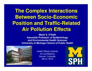 The Complex Interactions Between Socio-Economic. Air Pollution Effects