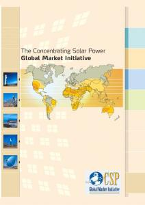 The Concentrating Solar Power Global Market Initiative