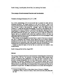 The concept of environmental function and its valuation