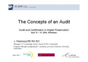 The Concepts of an Audit