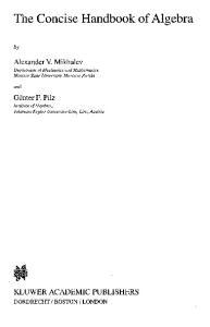 The Concise Handbook of Algebra
