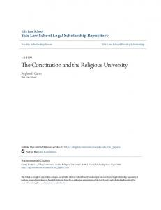 The Constitution and the Religious University