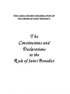 The Constitutions and Declarations