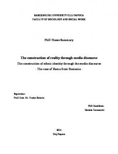 The construction of reality through media discourse