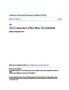 The Construction of the Other: The Antichrist
