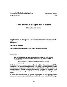 The Contexts of Religion and Violence