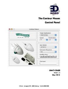The Contour Mouse Control Panel