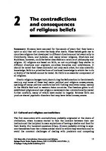 The contradictions and consequences of religious beliefs