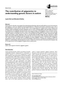 The contribution of epigenetics to understanding genetic factors in autism