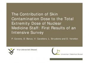 The Contribution of Skin Contamination Dose to the Total Extremity Dose of Nuclear Medicine Staff: First Results of an Intensive Survey