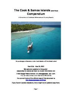 The Cook & Samoa Islands (and Niue) Compendium