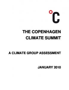THE COPENHAGEN CLIMATE SUMMIT A CLIMATE GROUP ASSESSMENT