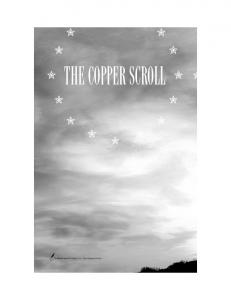 THE COPPER SCROLL. Tyndale House Publishers, Inc., Carol Stream, Illinois