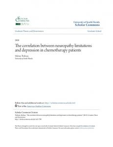 The correlation between neuropathy limitations and depression in chemotherapy patients