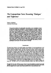 The Cosmopolitan Turn: Recasting Dialogue and Difference
