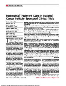 THE COST OF CONDUCTING CANcer