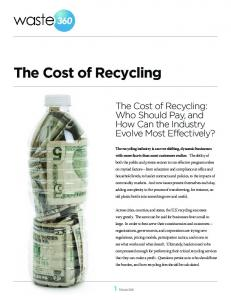 The Cost of Recycling