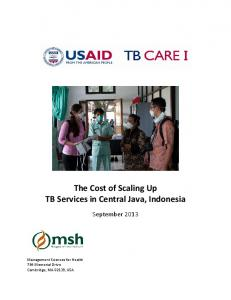 The Cost of Scaling Up TB Services in Central Java, Indonesia