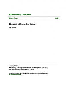 The Cost of Securities Fraud