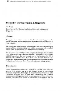 The cost of traffic accidents in Singapore
