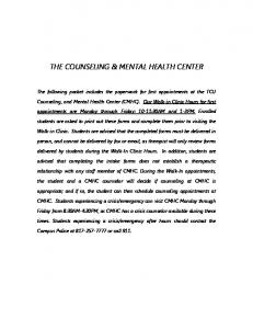 THE COUNSELING & MENTAL HEALTH CENTER