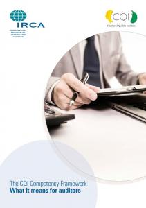 The CQI Competency Framework What it means for auditors