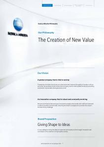 The Creation of New Value