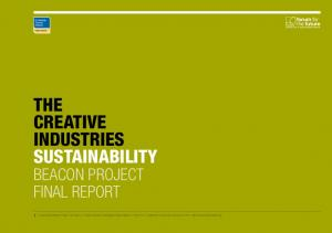 THE CREATIVE INDUSTRIES SUSTAINABILITY