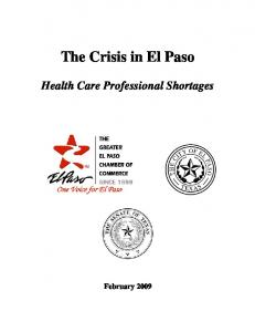 The Crisis in El Paso. Health Care Professional Shortages