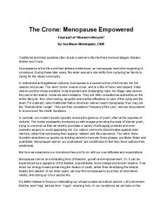 The Crone: Menopause Empowered