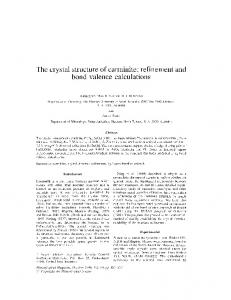 The crystal structure of carminite: refinement and bond valence calculations