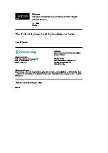 The Cult of Aphrodite at Aphrodisias in Caria