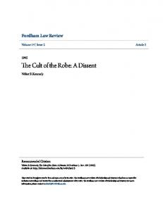 The Cult of the Robe: A Dissent