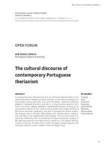 The cultural discourse of contemporary Portuguese