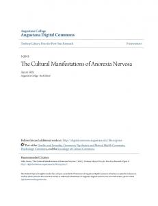 The Cultural Manifestations of Anorexia Nervosa