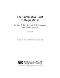 The Cumulative Cost of Regulations