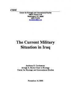 The Current Military Situation in Iraq