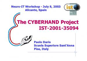 The CYBERHAND Project