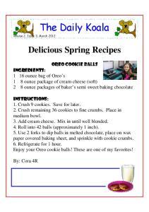 The Daily Koala. Delicious Spring Recipes